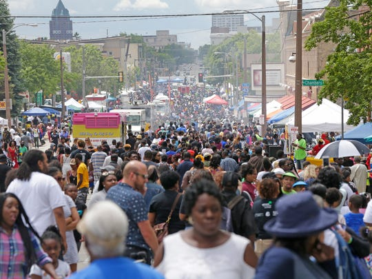 Thousands of people attend the Juneteenth Day celebration