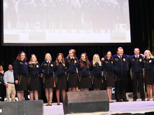 Ciera Ballmer (sixth from the right) served as State
