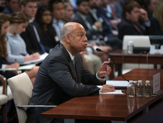 Former Homeland Security secretary Jeh Johnson testifies