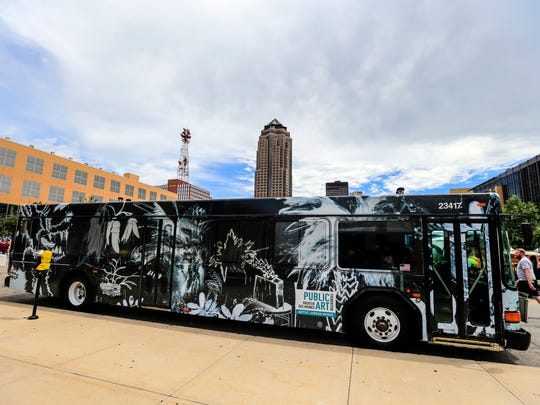DART unveiled the 2017 Art Bus during the Des Moines Arts Festival Friday, June 23, 2017.