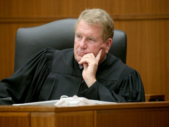 Judge Thomas Moran during opening statements in the
