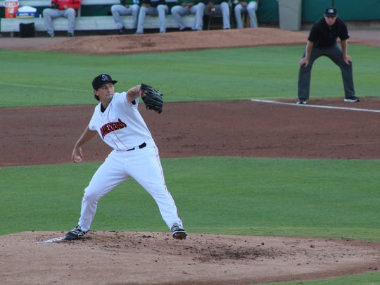 Pitcher Cody Poteet was among those selected to represent the Jupiter Hammerheads at this year's All-Star Game in Lakeland.
