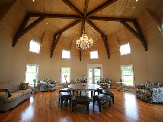 The Bridal Suite at Bear Brook Valley, a new luxury rustic wedding venue in Fredon. ItÕs the second venue opened in recent years after the Rock Island Yacht Club in Sparta, to be created by Boonton Township residents Perry and Michele Bonadies. June 22, 2017. Fredon, NJ.