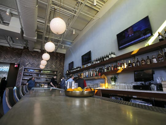 The bar at the new Senate restaurant.