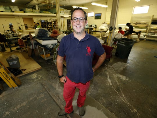 Andrew Grossman, owner of Andrew Grossman Upholstery in Asbury Park. Grossman is a finalist in the Small Business Innovator of the Year Award program.
