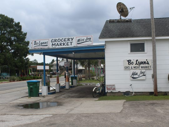 The outside of Bo Lynn's Grocery, St. Marks oldest commercial retail store and newest addition to the National Registry of Historic Places.