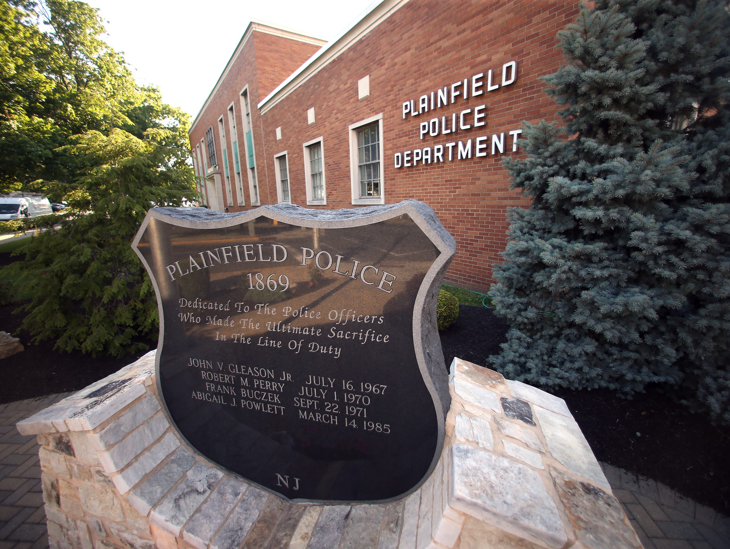 The Plainfield Police Department memorial to fallen