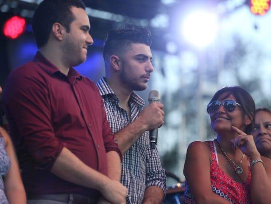 Weliam Khader Dabit of Jordan speaks during his naturalization