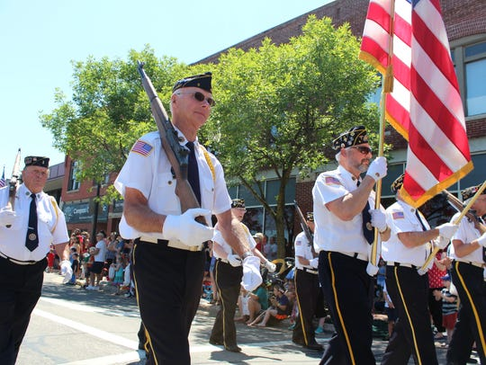 The Fourth of July parade in Stevens Point had crowds