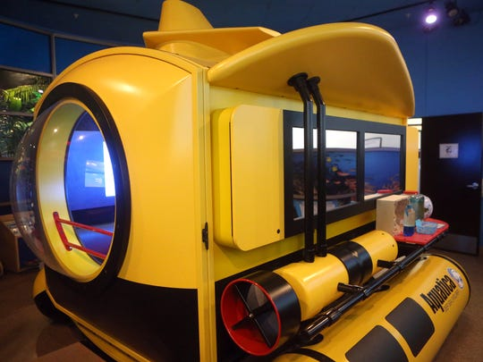 The All Around the World Pod Ocean room at the Early Scholars Academy in Corpus Christi features a submarine.