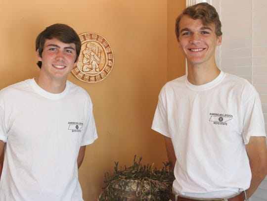 Spencer Hall, left, and Carson Wood, right, are Greenbrier