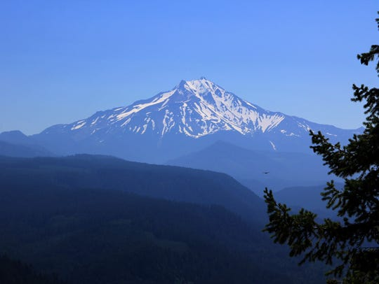 View of Mount Jefferson from Stahlman Point.