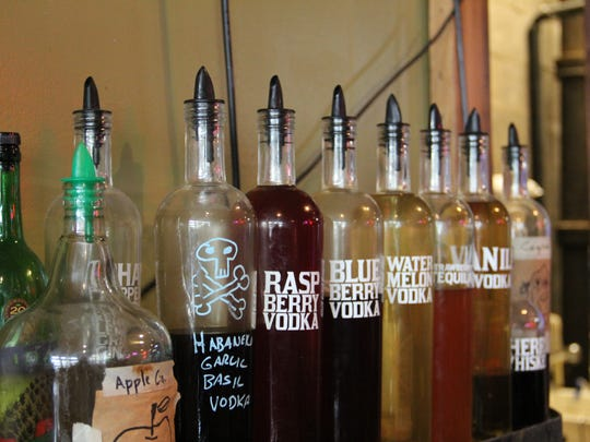 Kraftworks' Karl Knudson infuses his own vodkas for craft drinks, including a habanero garlic basil vodka for bloody marys.