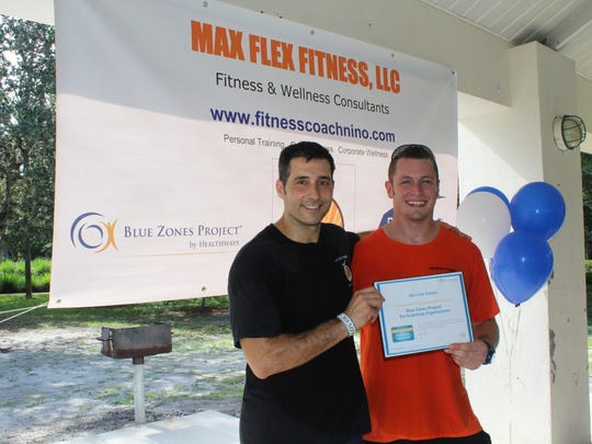 Max Flex trainers Nino Maggadino, left, and James Metcalf.