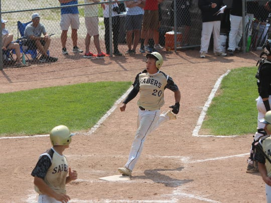 Franklin's Carson Manning speeds home as the third