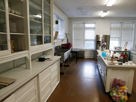 The second floor kitchen at Your Home Public Library in Johnson City on July 13. It retains many of its original features from 1917 and continues to help the library serve as a community center.