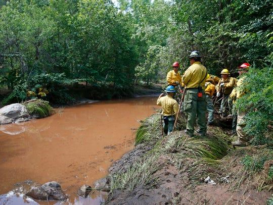 Search teams scour a 2½-mile area along Ellison Creek