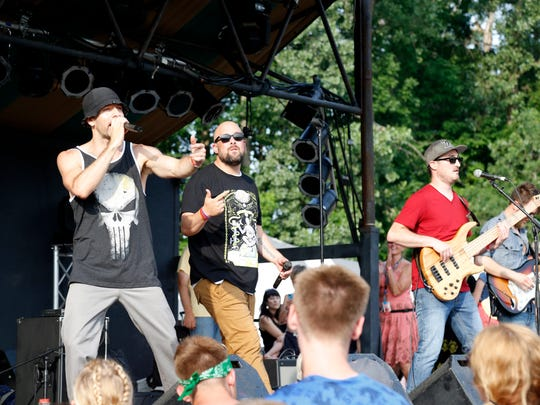 Scenes from GrassRoots Fest in Trumansburg on Friday.