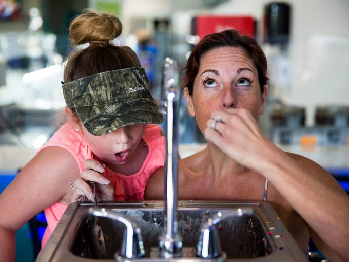 Photos: Local woman finishes the 6 lb. Kitchen Sink Challenge