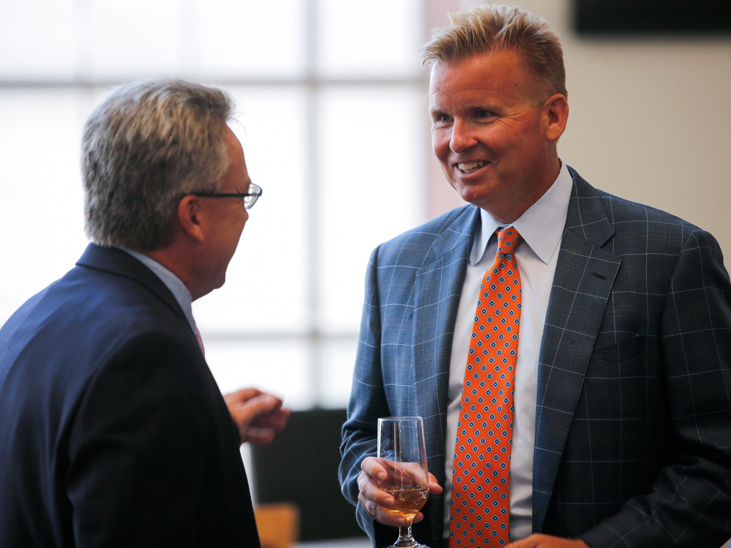 Cincinnati Bengals vice president Troy Blackburn during the team's media luncheon, Tuesday, July 25, 2017, at Paul Brown Stadium in Cincinnati. The Brown family is celebrating 50 years this year as owners of the Cincinnati Bengals franchise.