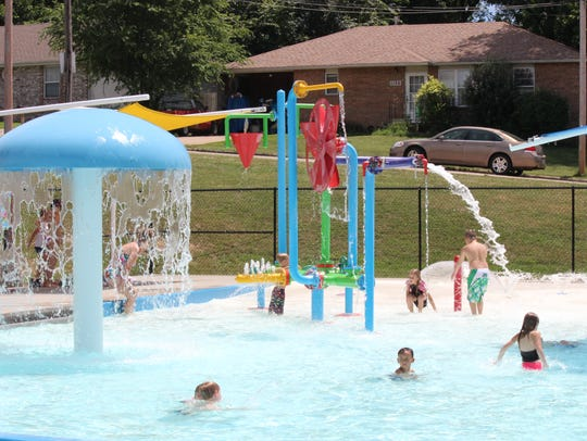Children play at Silver Springs pool in Springfield