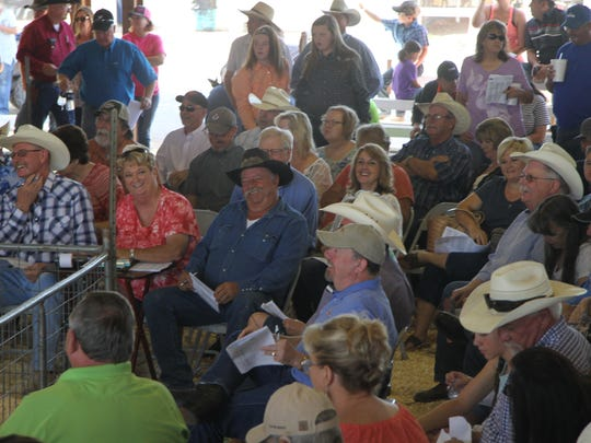 The crowd was lively and included hundreds at the annual Eddy County Fair Junior Livestock Auction Saturday at the Artesia Fairgrounds.