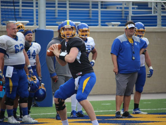Sophomore Alec Cromer will compete to be SDSU's backup quarterback this spring