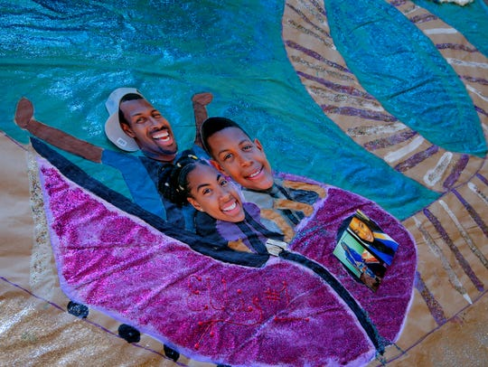 Rudy Ellis and his children Taniya, 12, and Cameron,