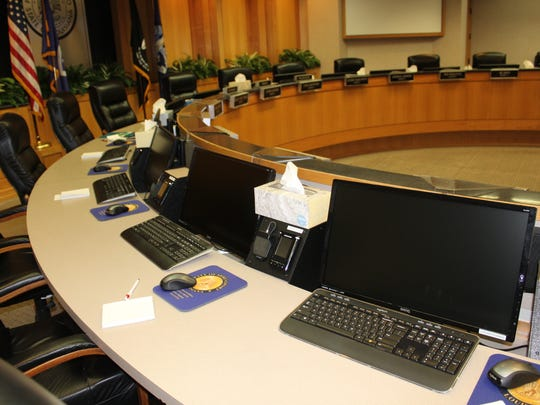 Commission clerk Todd Hopkins said the chambers recently went through a total revamp that cost about $150,000.