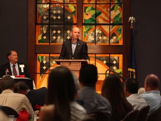 Lt. Gov. Spencer Cox speaks at the Rural Summit at