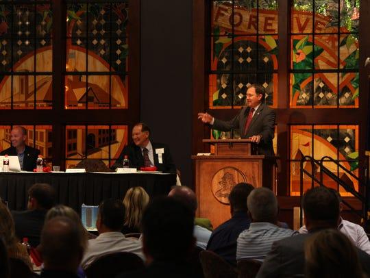 Gov. Gary Herbert speaks at the Rural Summit at Southern