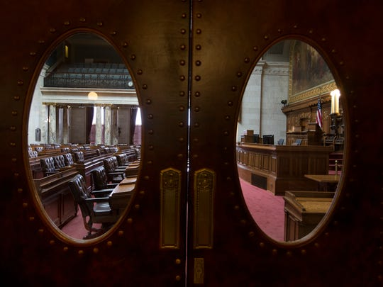 The Assembly chambers in the state Capitol in Madison, Wis.