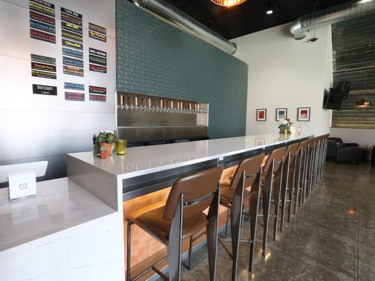 This view of a bar will be similar to the Grinnell Branch of the Peace Tree Brewing Co.