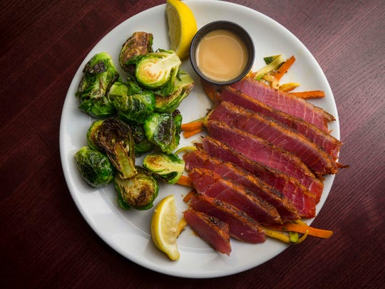 Seared ahi tuna at District 36 Wine Bar and Grille,