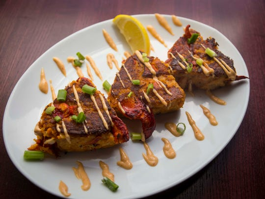 Lobster cake trio at District 36 Wine Bar and Grille,