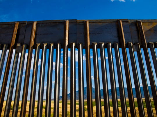 Mexico can be seen through a newly constructed border