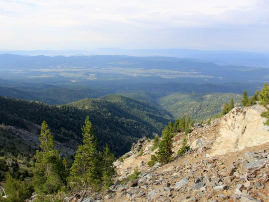 The steep route up Rock Creek Butte/