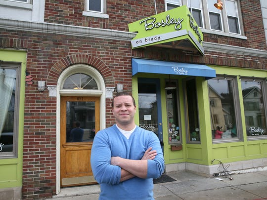 Chef Dane Baldwin outside the former Bosley on Brady in March, when he spoke of plans to open his own restaurant in the space.