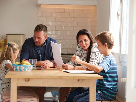 Homework can be a family affair.