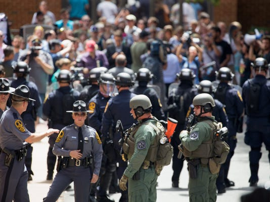 EPA EPASELECT USA CHARLOTTESVILLE RALLY AFTERMATH WAR VIOLENT DEMONSTRATIONS USA VA