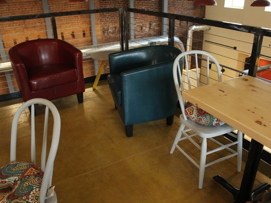The loft in the new Downtown Grocery building will provide plenty of comfy seating for community members to enjoy a cup of coffee or a quick meal.