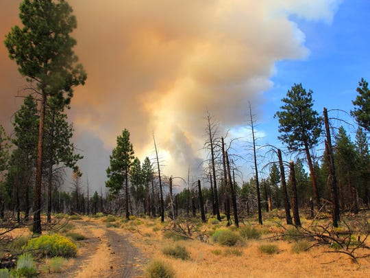 The Milli Fire is burning near Sisters in Central Oregon.