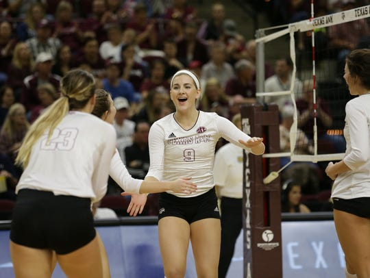 Calallen grad Hollann Hans competes in a game against