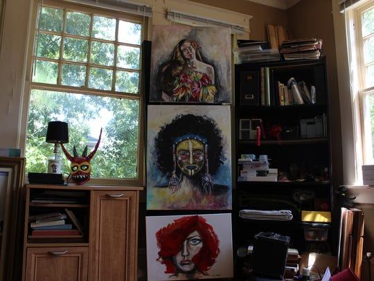 Lisandra di Liberto Brown's studio space in Shreveport.