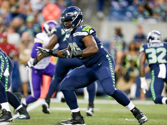 Seahawks coaches said they liked what the saw from Rees Odhiambo in Friday's preseason game against the Vikings -- until the start of the second half, when he allowed two sacks in three plays.