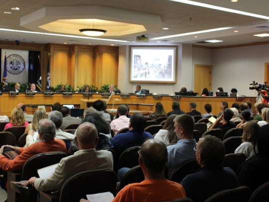 Dozens turned up for the city council meeting on Tuesday.