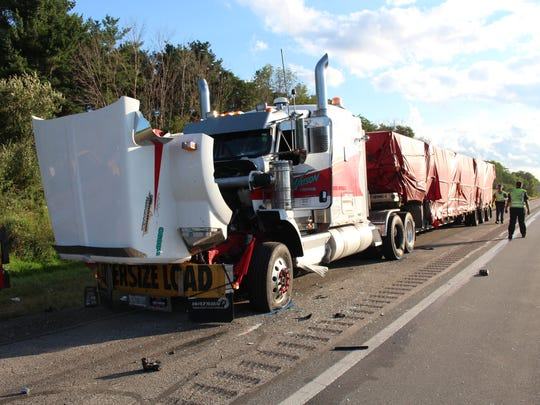 Two men were struck and killed by a vehicle while they were working on a disabled semi on I-71 in Ashland County on Tuesday, Aug. 22, 2017. Truck driver Steven Garceau, 44 of Champlain, New York, and Dennis E. McKenzie Jr., 28 Polk were both pronounced dead at the scene.