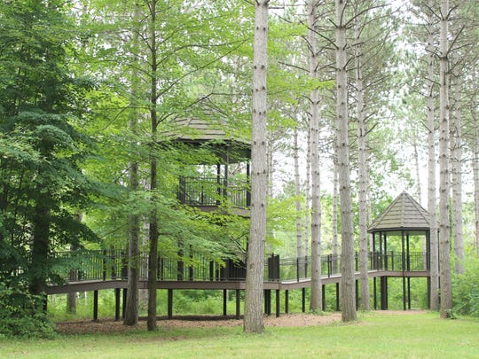 The tree house in the Monk Botanical Gardens in Wausau
