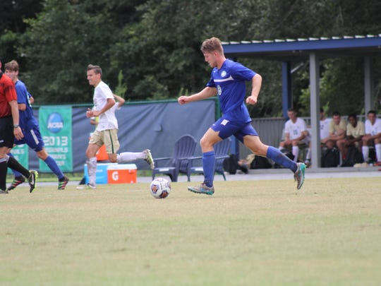 Navarre native Kameron Bethell plays in an undated UWF men's soccer match. Bethell is expected to be one of the Argos' top playmakers this fall.