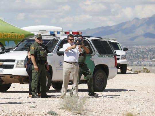 U.S. Sen. Ted Cruz, R-Texas, tours the U.S.-Mexico